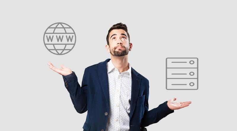 Razlika med domeno in spletnim gostovanjem?