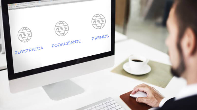 Registracija, podaljšanje in prenos domene