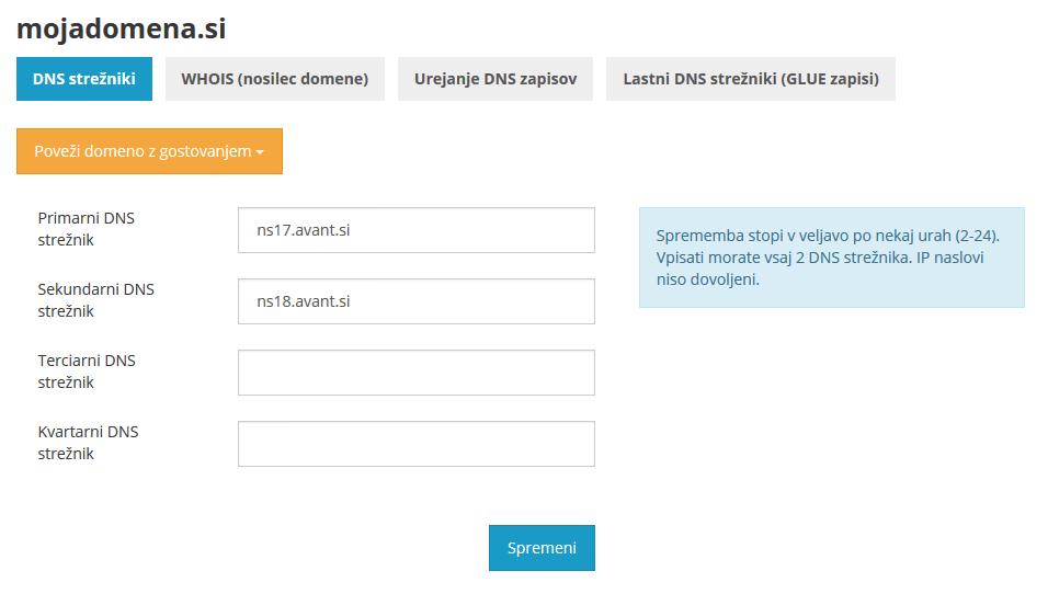 DNS zapisi